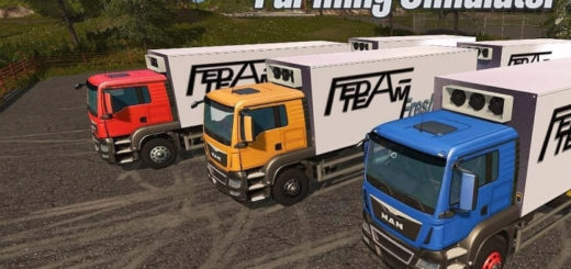 Мод грузовик MAN FeDa Fresh truck v1.0 Farming Simulator 2017