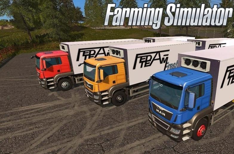 Мод грузовик MAN FeDa Fresh truck v1.0 Farming Simulator 2017