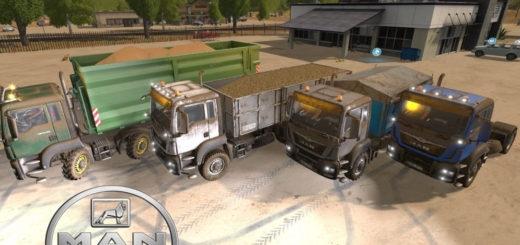 Мод ПАК грузовики MAN TGS AgroTruck v1.2 Farming Simulator 17