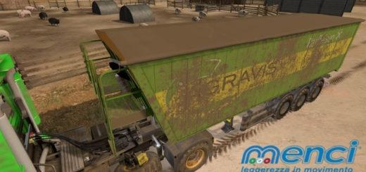 Мод прицеп Menci Agrarvis Trailer v2.1 Farming Simulator 17