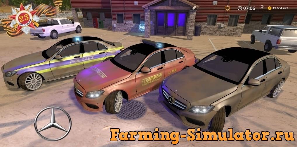 Мод авто Mercedes C250 AMG v1.0 Farming Simulator 2017