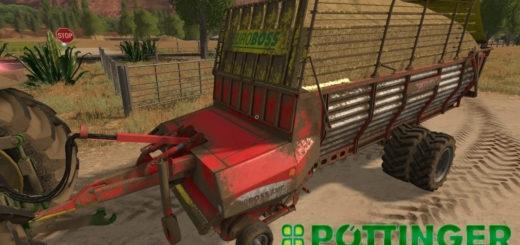 Мод прицеп Poettinger EuroBoss 330T v2.0 Farming Simulator 2017