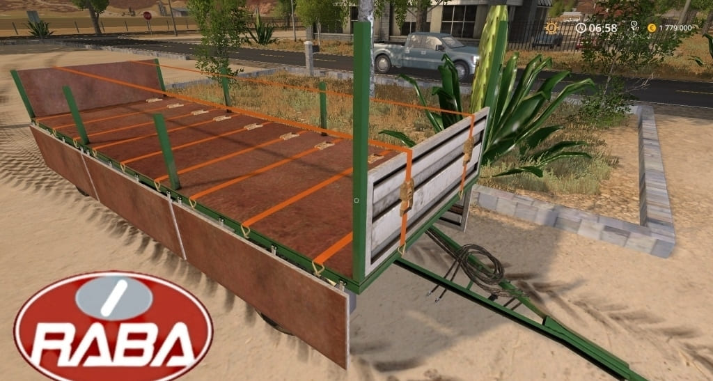 Мод прицеп Raba 571 Baletrailer Farming Simulator 2017