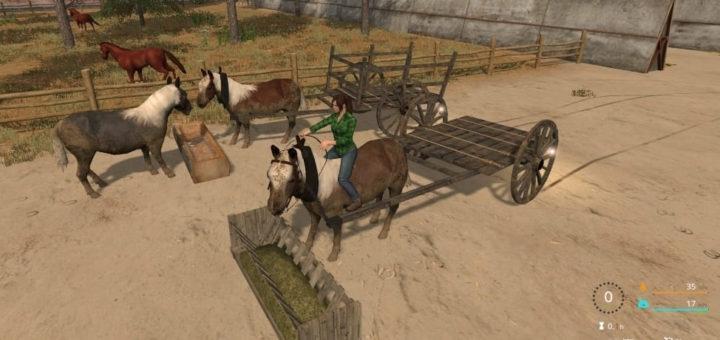 Мод пони Rideable Pony v1.0 Farming Simulator 17