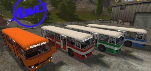 Мод автобус ЛиАЗ-677 v2.0 Фермер Симулятор 2017