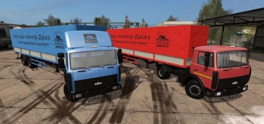 Мод грузовики МАЗ-5551 + МАЗ-938662 v1.0 Фермер Симулятор 2017