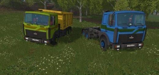 Мод грузовики МаЗ 5516 и Прицеп v 2.4 Фермер Симулятор 2017