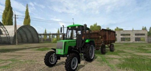Мод трактор Кий (мтз) 14102 и отвал v2.0 Фермер Симулятор 2017