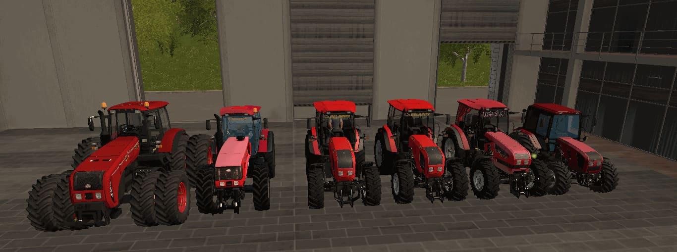 Мод ПАК тракторов Беларус v 1.3 Фарминг Симулятор 2017