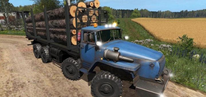 Мод грузовик УРАЛ-6614 Лесовоз v1.0 Фарминг Симулятор 2017