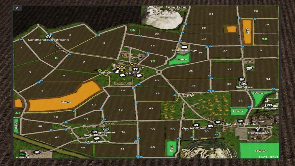 Мод карта WASSEL MAP V1.0.0.0 Farming Simulator 2017