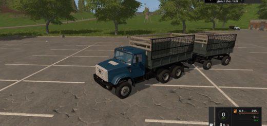 Мод грузовик ЗиЛ 4331 с прицепом v1.1 Фермер Симулятор 2017