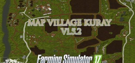 Мод карта Деревня Курай v1.5.2 Фарминг Симулятор 2017
