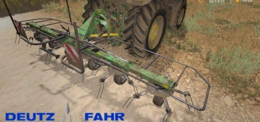 Мод ворошилка Deutz Condimaster 7621 v1.0 Farming Simulator 17
