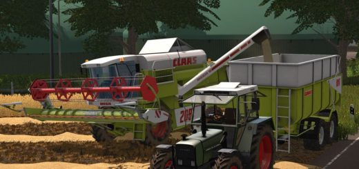 Мод комбайн Claas Mega Pack v 2.0.1.0 Farming Simulator 2017