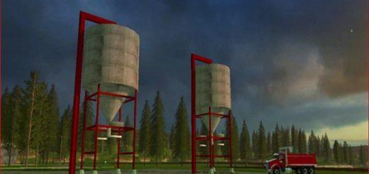 Мод DISTILLERS CORN STORAGE SILO V1.0 Farming Simulator 17