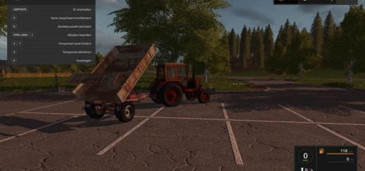 Мод прицеп FORTSCHRITT TEK4 V1.0 Farming Simulator 17