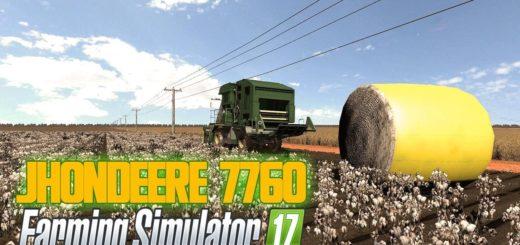 Мод комбайн JOHN DEERE 7760+HEADER V1.0 Farming Simulator 17