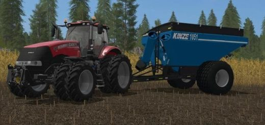 Мод прицеп KINZE 1051 SINGLE-AUGER CART V1.0 FS17