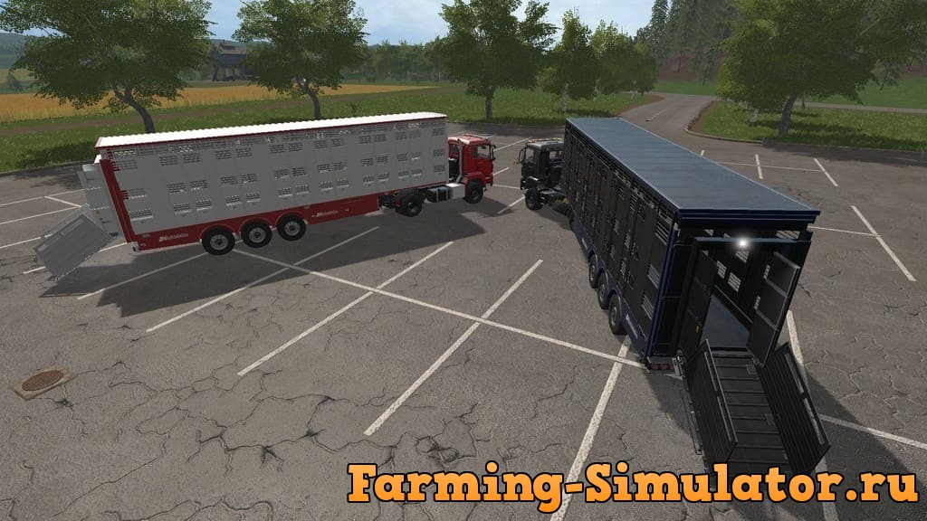 Мод ПАК прицепыLivestock Trailer Pack (Chicken Edition) FS17