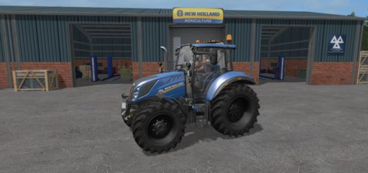 Мод трактор NEW HOLLAND T5 V1.0.0.0 Farming Simulator 17