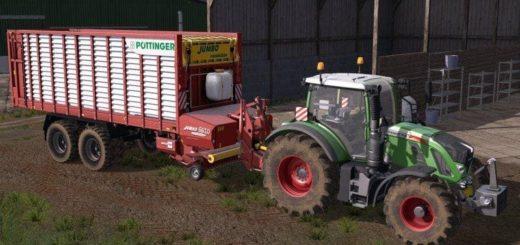 Мод прицеп POETTINGER JUMBO COMBILINE 6610 V1.0 Farming Simulator 2017