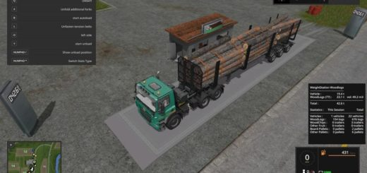 Мод WEIGHT STATION FOR WOOD LOGS PLACEABLE V1.0 FS17