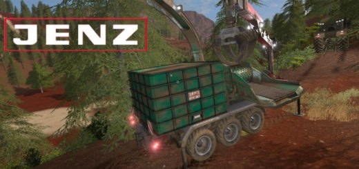 Мод щеподробилка Jenz Woodcrusher v1.0 FS17