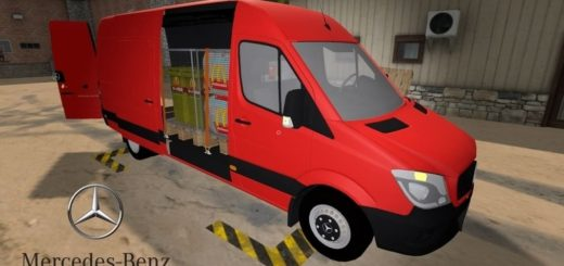 Мод Mercedes Sprinter 2014 LWB 319 v1.1 Farming Simulator 2017