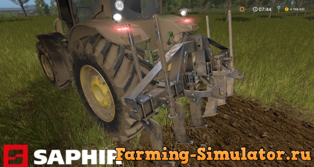 Мод Saphir Plow Star v1.0 Farming Simulator 2017