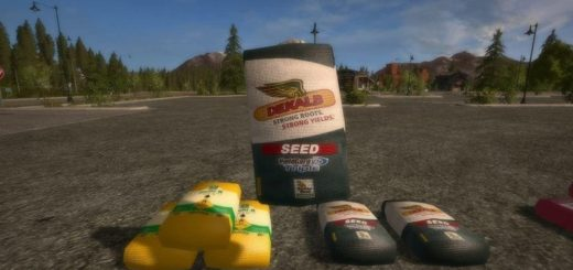 Мод ПАК мешки BAGGED PRODUCTS V1.0.0.0 Farming Simulator 17