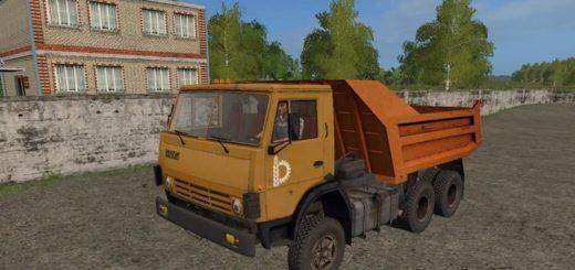 Мод грузовик КамАЗ-55111 Фермер Симулятор 2017