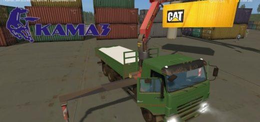 Мод грузовик КамАЗ-65117 с КМУ v1.0 Фермер Симулятор 2017