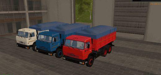 Мод грузовик КамАЗ-45143 Сельхозник v 1.2.1 Фермер Симулятор 2017