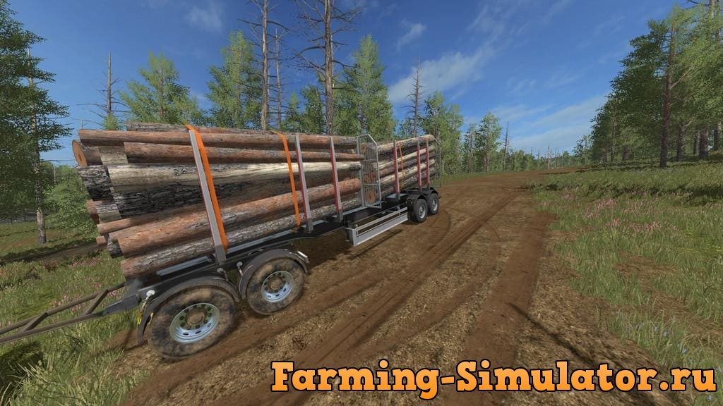 Мод прицеп LOG TRAILER V1.0.0.0 Farming Simulator 2017