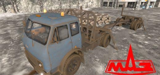 Мод грузовик МАЗ-504 Лесовоз v1.0 Фермер Симулятор 2017