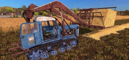 Мод трактор ДТ-75 Стогомёт Фермер Симулятор 2017