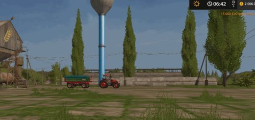 Мод водонапорная башня WATER TOWER V1.0.0.0 FS17