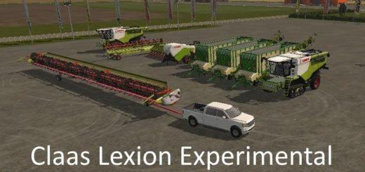 Мод ПАК CLAAS LEXION EXPERIMENTAL V1.0 Farming Simulator 17