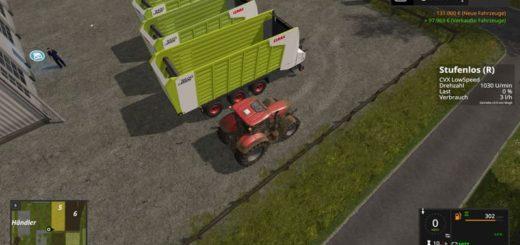 Мод прицеп подборщик CLAAS CARGOS 9400 V3.0 Farming Simulator 17