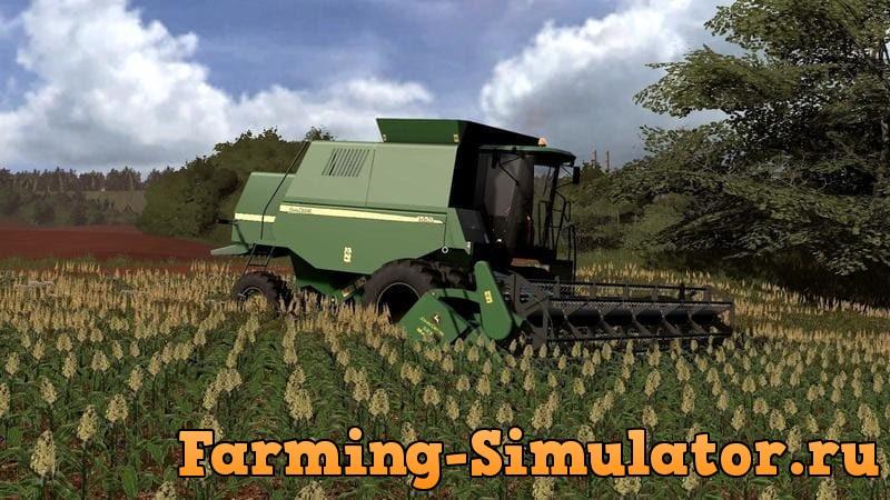 Мод комбайн JOHN DEERE 1550 V1.0 Farming Simulator 2017