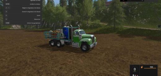 Мод грузовик MACK B61 V8 SERVICE V4.0 Farming Simulator 17