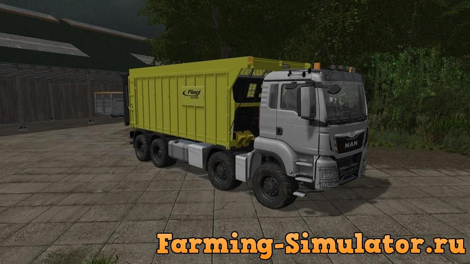 Мод грузовик MAN TGS FLIEGL 8X8 V3.4 Farming Simulator 2017
