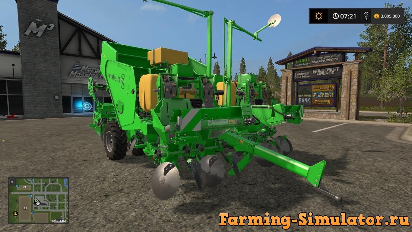 Мод сеялка MIEDEMA V1.1.0 Farming Simulator 2017