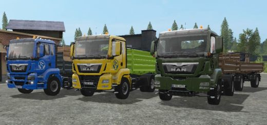 Мод ПАК Man TGS Tipper Truck Pack Farming Simulator 17