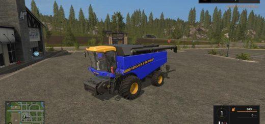 Мод комбайн VERSATILE RT490 BLUE V1.0 Farming Simulator 2017