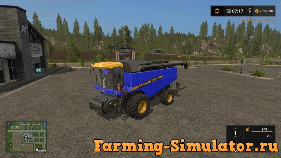 Мод комбайн VERSATILE RT490 BLUE V1.0 Farming Simulator 2017