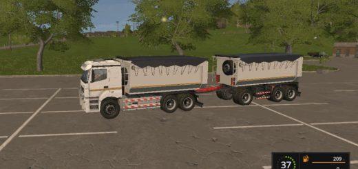 Мод ПАК грузовик КамАЗ 6580 К3340 v 1.1 Фарминг Симулятор 2017