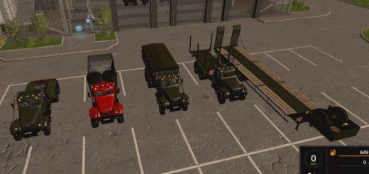 Мод ПАК грузовик КРАЗ v1.2.1 Фермер Симулятор 2017