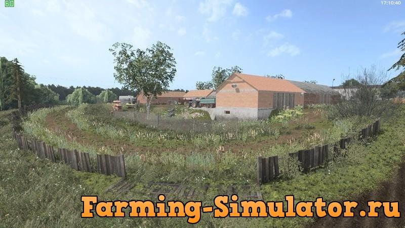 Мод карта KAIMAS DEEP VILLAGE MAP V1.0 Farming Simulator 17